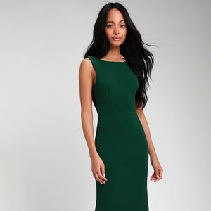 Hunter Green Backless Maxi Dress - Lulus